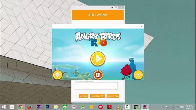 Arc Welder app launch