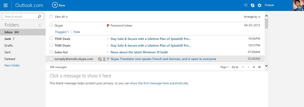 Sign in or Sign up for Outlook