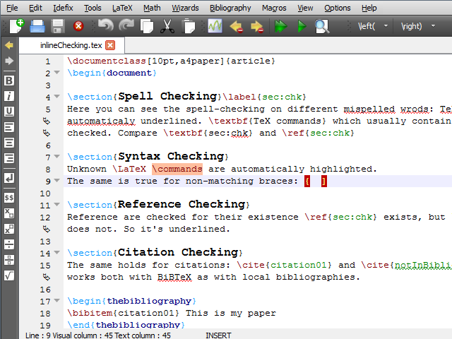 texmaker spell check