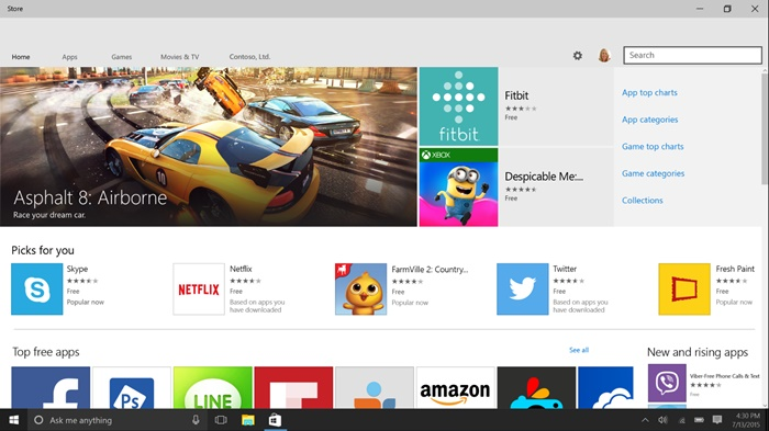 Unified Store in Windows 10