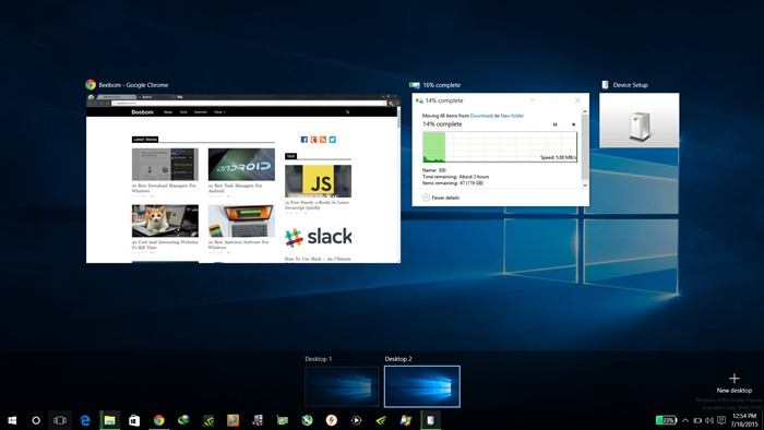 Virtual Desktops in Windows 10