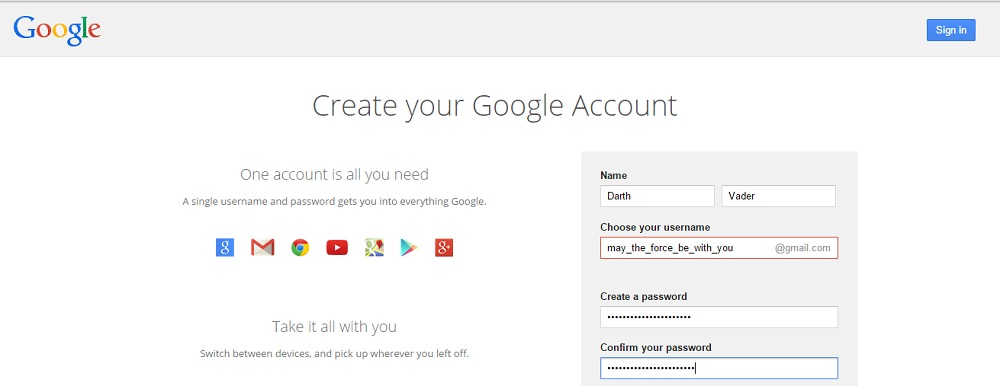 create an anonymous email on Gmail
