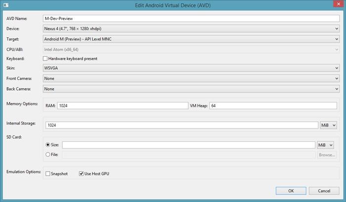 Create AVD using AVD Manager