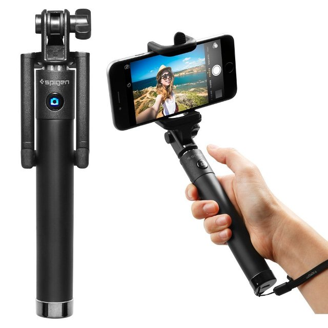 Spigen Bluetooth Selfie Stick with Remote Shutter