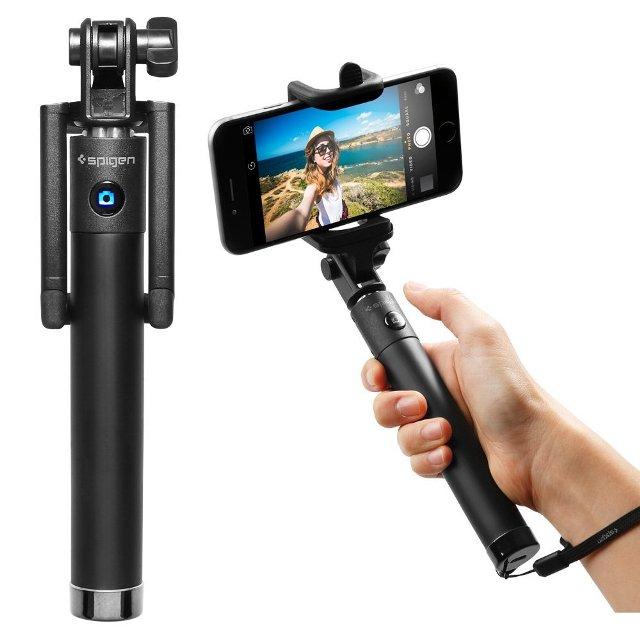 Spigen Bluetooth Selfie Stick with Remote Shutter