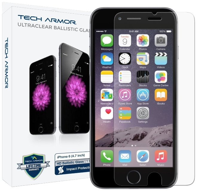 Tech Armor Ballistic Glass iPhone 6s Screen Protector