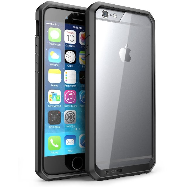 SUPCASE Clear Hybrid iPhone 6s Plus Bumper Case