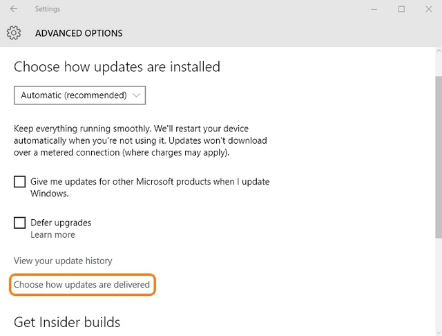 Windows 10 turn off updates