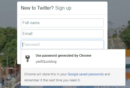 chrome flags password generator