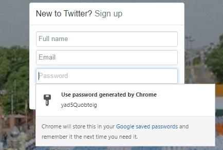 chrome flags password generator