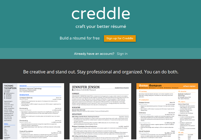 online-resumes-creddle