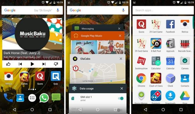 Android Lollipop UI