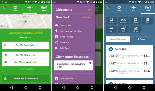 CityMapper Android app