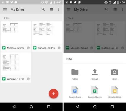 Google Drive Scan option