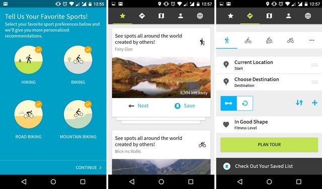 Komoot Android app