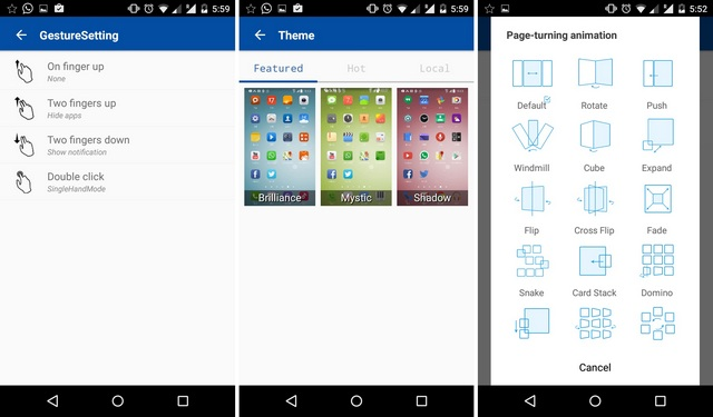 One Launcher Features Android App