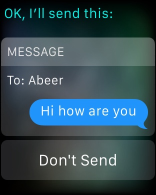 Siri Messages