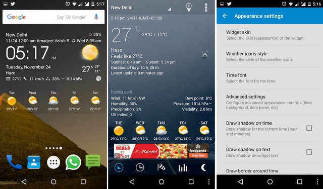 how to change time on weather widget