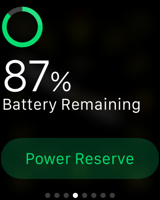 Turn On Apple Watch Power Reserve