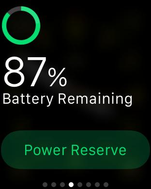 Turn On Apple Watch Power Reserve