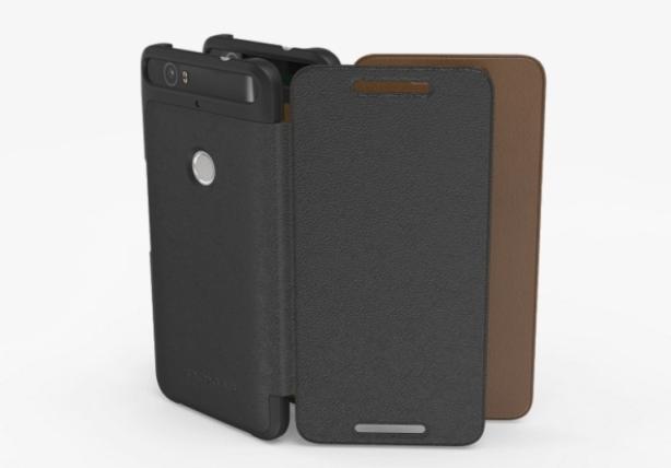 Adopted Nexus 6P Leather Folio Case