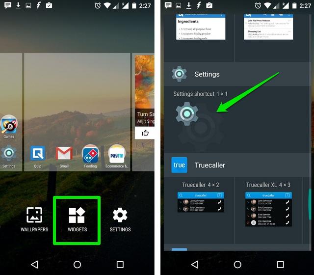 Android Settings Widget