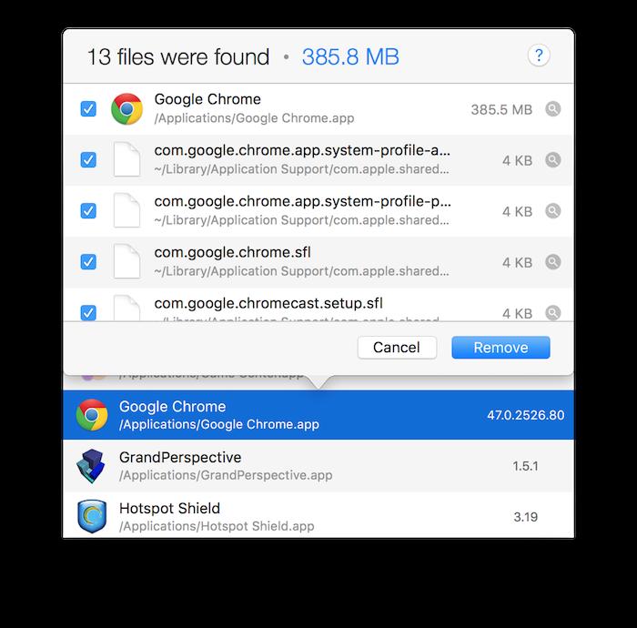AppCleaner List