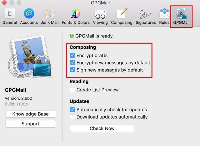 Apple Mail Encrypt Preferences