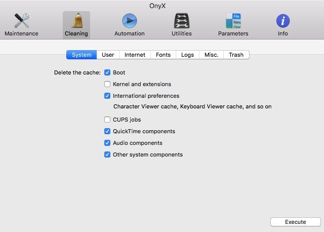 Clean Mac 04d - OnyX 3 Cleaning