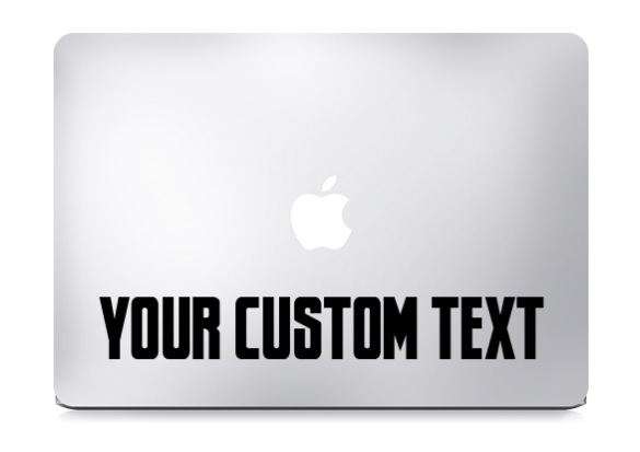 Custom Text Macbook Decal Sticker