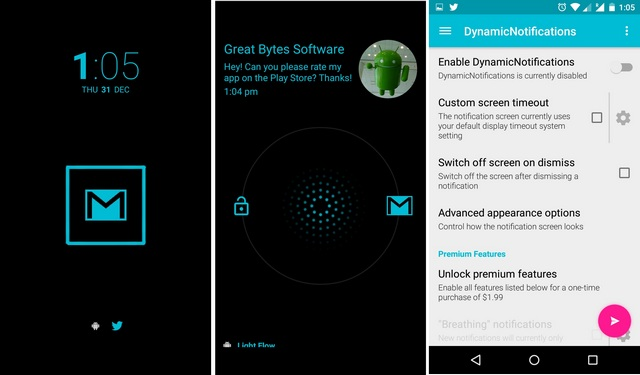 Dynamic Notifications Android app