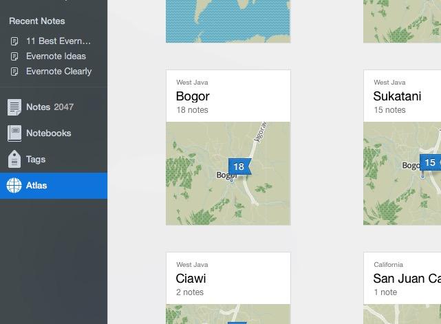 Evernote 6a - Maps