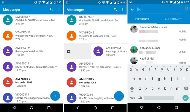 Google Messenger SMS Android app