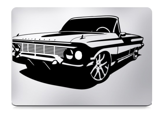 Impala Converticle Macbook Decal Sticker