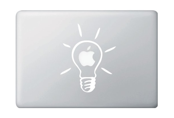 Lightbult Macbook Decal Sticker