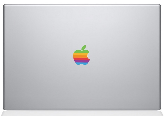 Retro Apple logo Macbook Decal Sticker