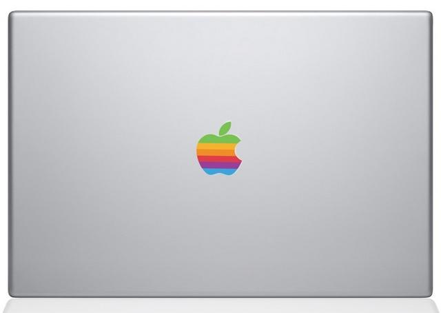 Retro Apple logo Macbook Decal Sticker