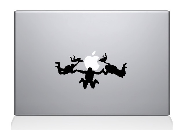 Sky Divers Macbook Decal Sticker