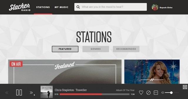Slacker Radio Web