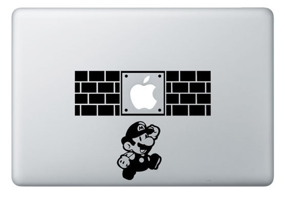 Super Mario Macbook Decal Sticker