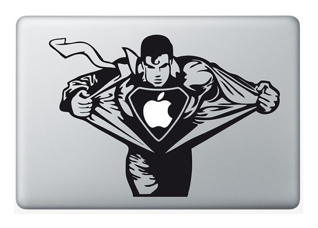 Superman Macbook Decal Sticker