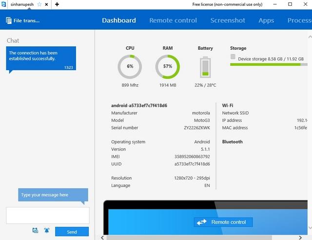 TeamViewer device details