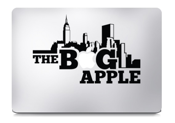 The Big Apple Macbook Decal Sticker