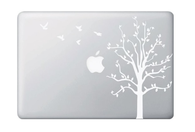 Tree with Birds Macbook Decal Sticker
