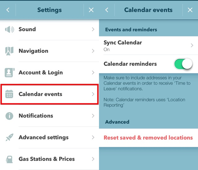 Waze -bb- 03a - Calendar Events