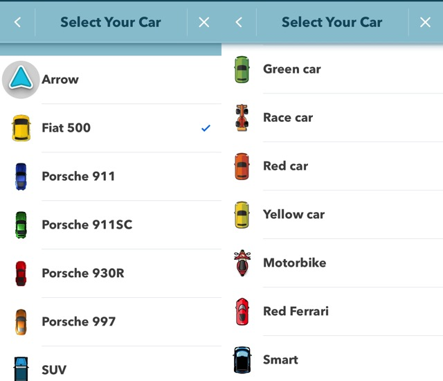 Waze -bb- 10 - Pick a car