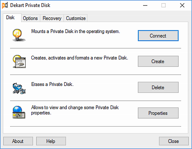 dekart private disk
