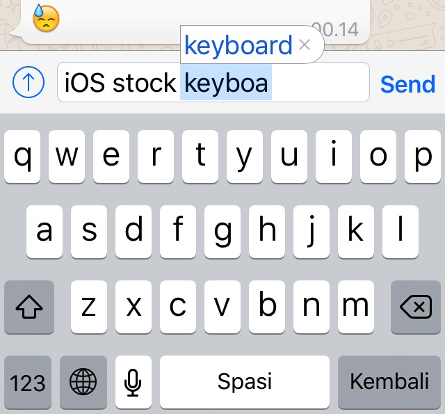 iOS Keyboards -bb- 01 - Stock Keyboard