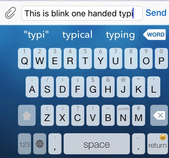 iOS Keyboards -bb- Blink