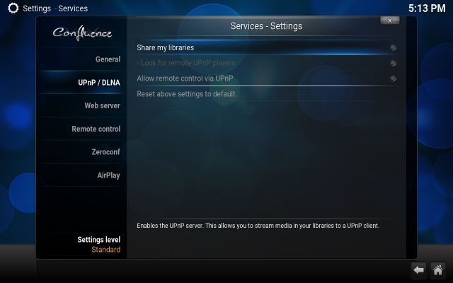 kodi streaming settings